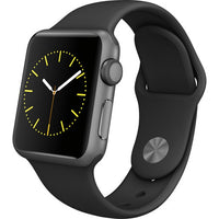 Apple Watch 38mm Smartwatch in Space Gray Aluminum Case with Black Sport Band