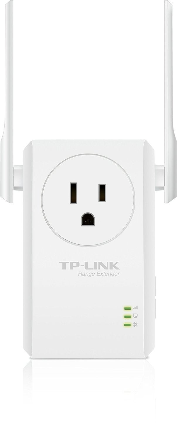 TP-Link N300 TL-WA860RE Wi-Fi Range Extender with Pass-Through Outlet