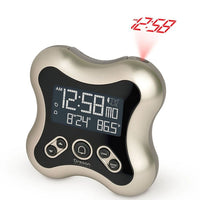 Oregon Scientific RM331P Projection Atomic Time Alarm Clock with Temperature Calendar for Home Office Bedroom in Titanium