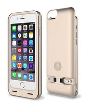 Squirl MFI Apple Certified iPhone Extended Battery Protective Case for iPhone 6/6S in Gold