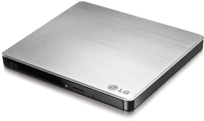 LG GP60NS50 8x DVD±RW DL USB 2.0 Slim External Drive (Silver)