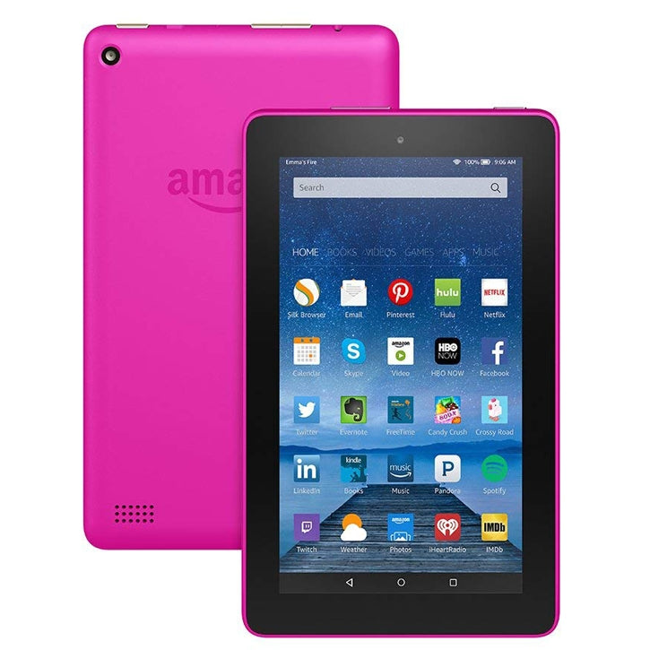 "Amazon Fire Tablet with Alexa 7"" Display 16GB 5th Gen in  Magenta"