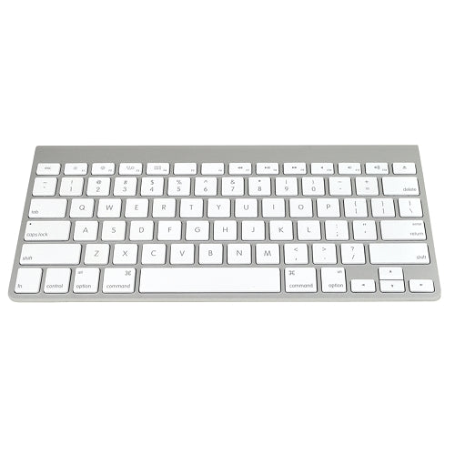Apple A1314 78-Key Bluetooth Wireless Mini Keyboard (Aluminum with White Keys)