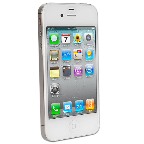"Apple iPhone 4S 16GB 3.5"" Touchscreen Quad-Band GSM Dual Camera Smartphone for AT&T in White"