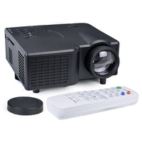 "LED Lamp LCD Projector 320x240 8-80"" Display w/HDMI VGA USB SD Slot & Remote"
