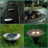 Outdoor Waterproof Buried Solar Stainless Steel LED Lights