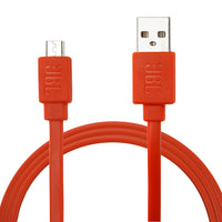 2 Pack: JBL Extra Durable 3ft 2 in 1 Sync & Charge Micro USB Data Cable in Orange