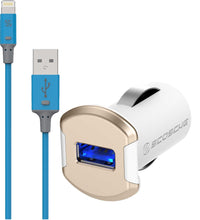 Scosche StrikeLine 3FT Charge & Sync MFI Certified Cable for Lighting Devices + 12W Car Charger