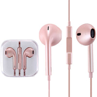 iPhone 5/6 Style Earpods with Remote & Mic in Rose Gold