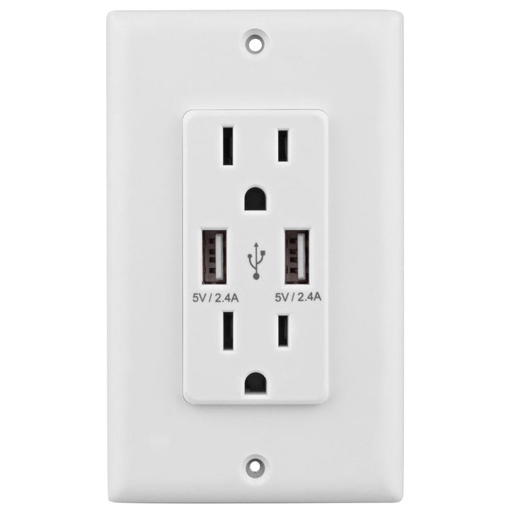iTD Gear Dual 2.4amp 2-Port Rapid Charging USB Wall Outlet