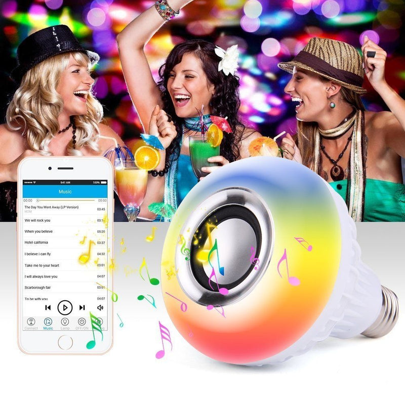 Wireless Bluetooth LED Speaker Bulb With Remote