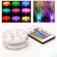 10-LED RGB Submersible Base Light With Remote