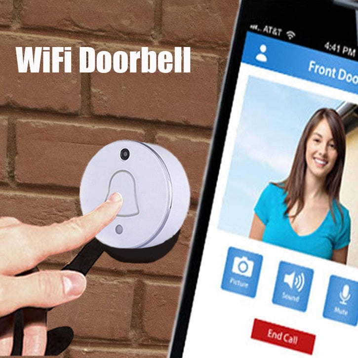 WiFi Wireless Digital Video Doorbell with Phone Intercom Alarm