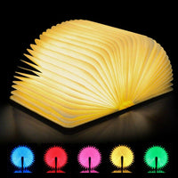 Colorful LED Night Light Magnetic Folding Book Lamp USB Rechargeable