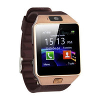 Bluetooth Smart Watch Phone Mate GSM SIM For Android in Gold