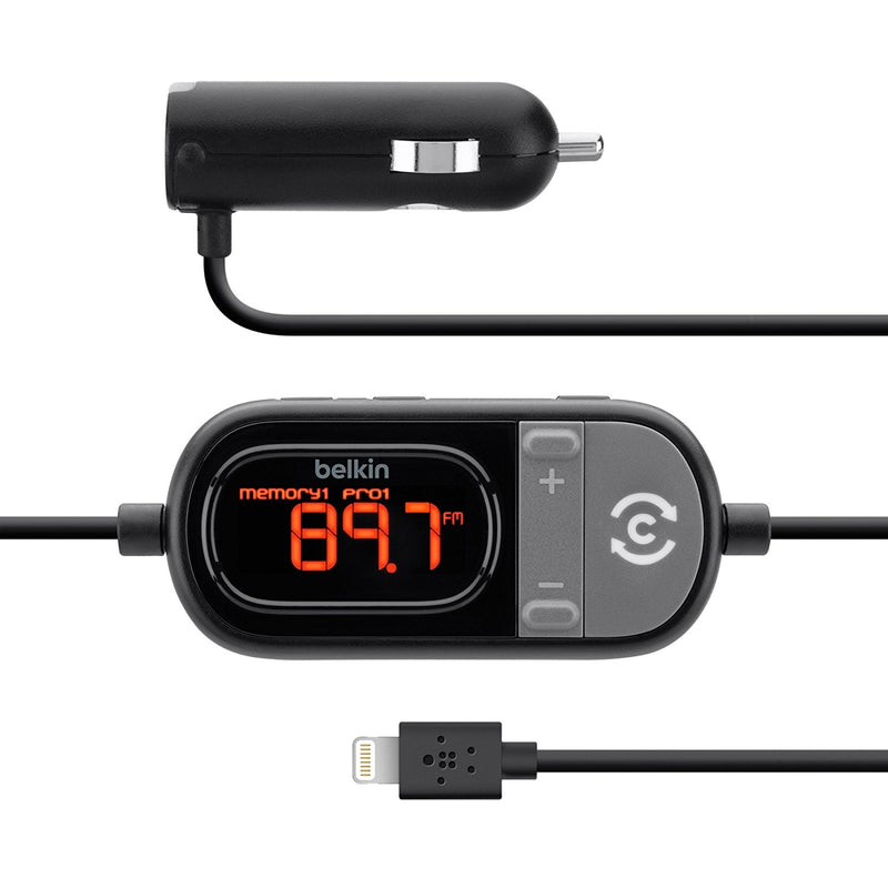 Belkin F8J055TT TuneCast Auto Hands-Free FM Transmitter and Charger (for iPhone/iPad/iPod)