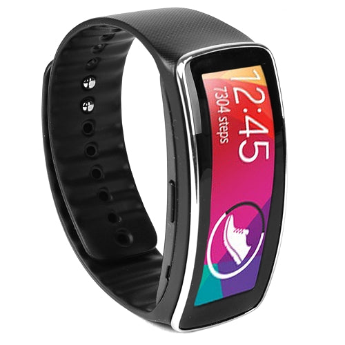 "Samsung Gear Fit SM-R350 1.84"" OLED Smartwatch/Activity Tracker w/Bluetooth & Black Strap (Charcoal Black)"