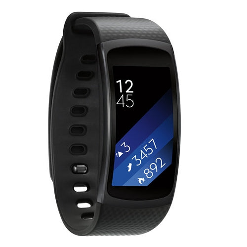 "Samsung Gear Fit2 SM R360 1.5"" OLED GPS Sports and w/luetooth & Strap in Black"