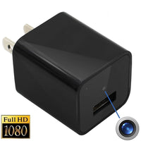 iTD Gear USB Wall Charger Spy Camera 8GB 1080P HD USB Adapter