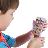 Toy iPhone w/8 Puzzles, LED Lights & Rechargeable Battery