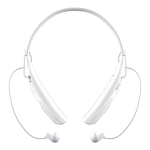 LG TonePRO Wireless Stereo Bluetooth Headset HBS-750 - Magnetic Earbuds in White