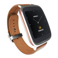 ASUS ZenWatch 1.2GHz Smart Watch Android Wear w/brown Leather Strap