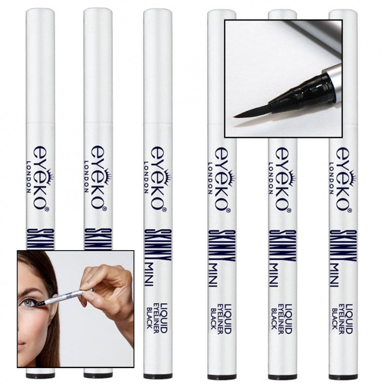 6 PACK: Eyeko Skinny Black Liquid Liner