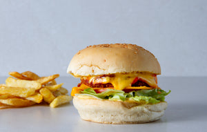 Combo: Chili chickun Burger and fries
