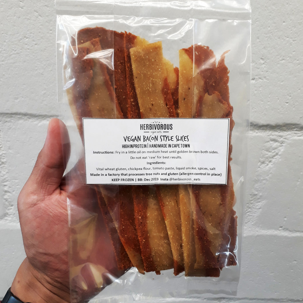Herbivorous Vegan Bacon Style Slices 100g - Frozen (collection only)