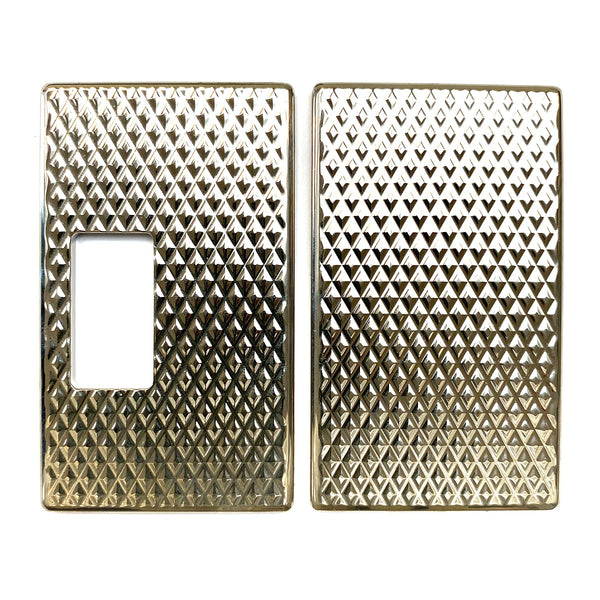 Billet Box Aluminium Panels - Diamond Plate - Nickel Plated