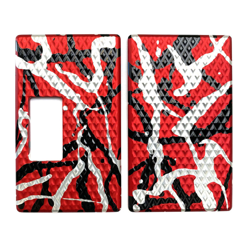 Billet Box Aluminium Panels - Diamond Plate - Red Splatter