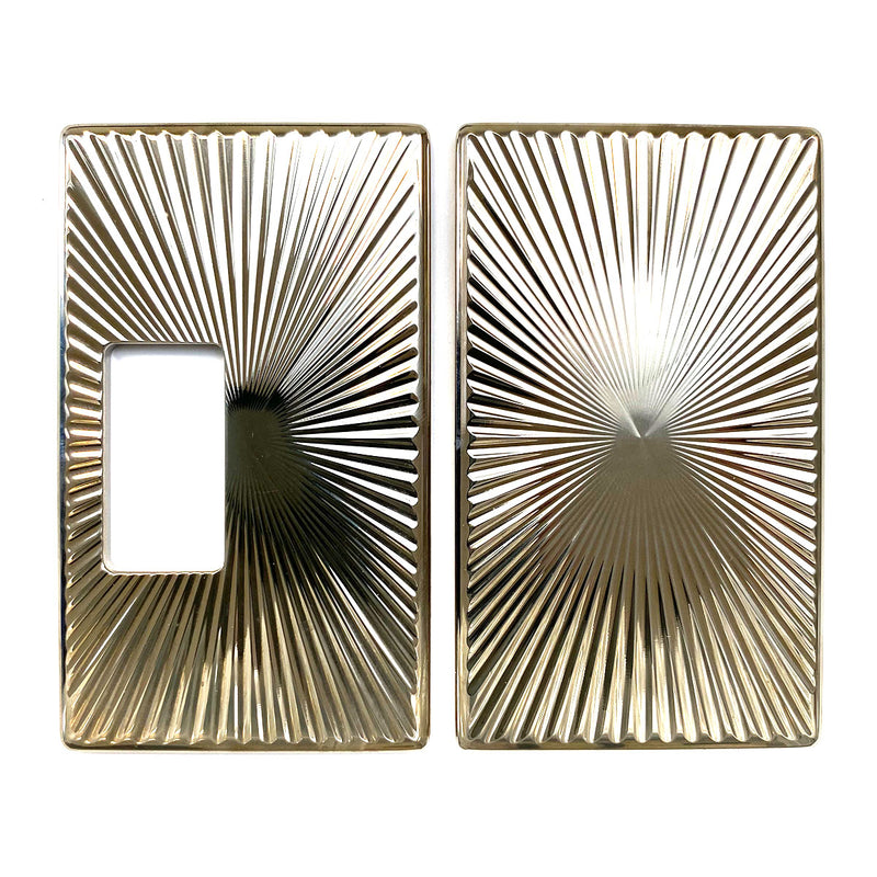 Billet Box Aluminium Panels - Star Burst - Nickel Plated