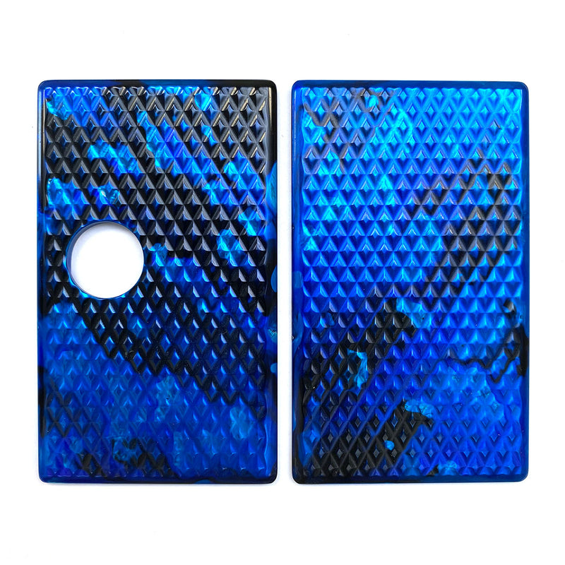 Billet Box Aluminium Panels - Diamond Plate - Blue Granite