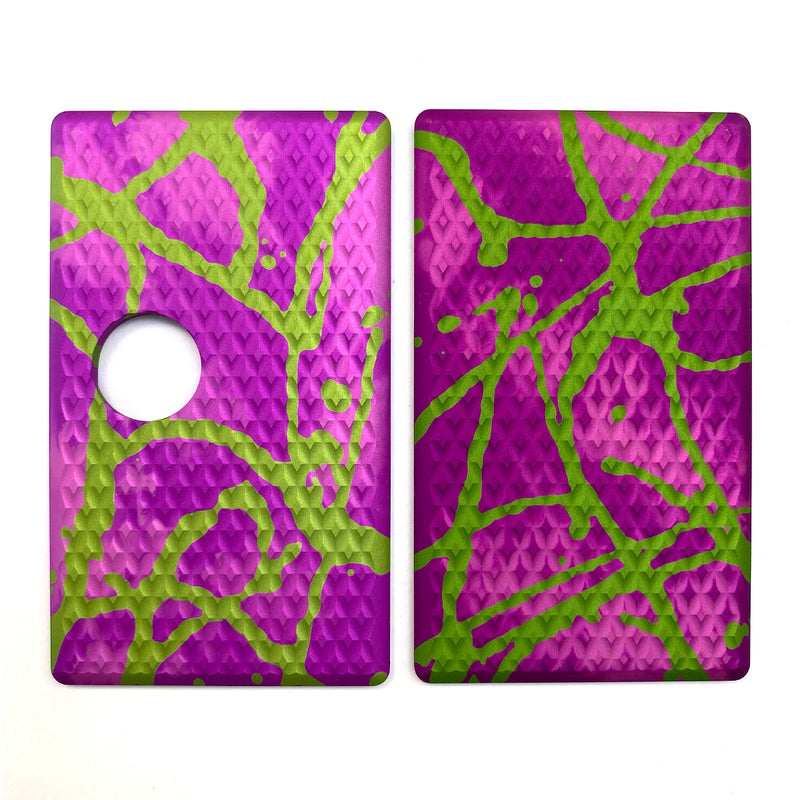 Billet Box Aluminium Panels - Diamond Plate - Pink Acid Wash/Lime Splatter