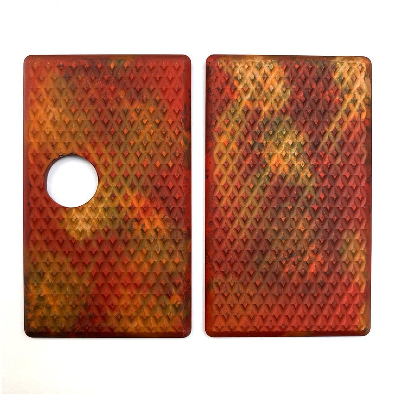 Billet Box Aluminium Panels - Diamond Plate - Rust Acid Wash