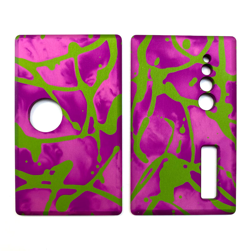 Billet Box Aluminium Panels - Flats - Pink Acid Wash/Lime Splatter