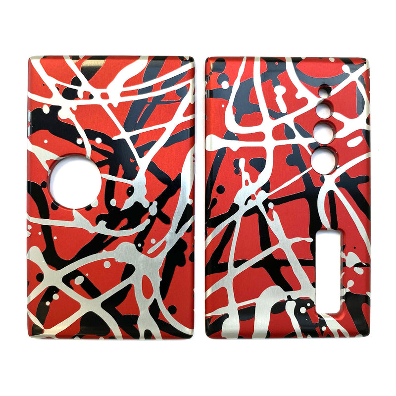 Billet Box Aluminium Panels - Flats - Red Splatter