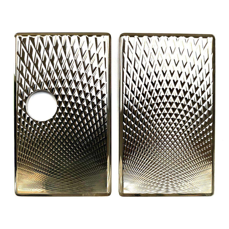Billet Box Aluminium Panels - Fading Diamonds - Nickel Plated