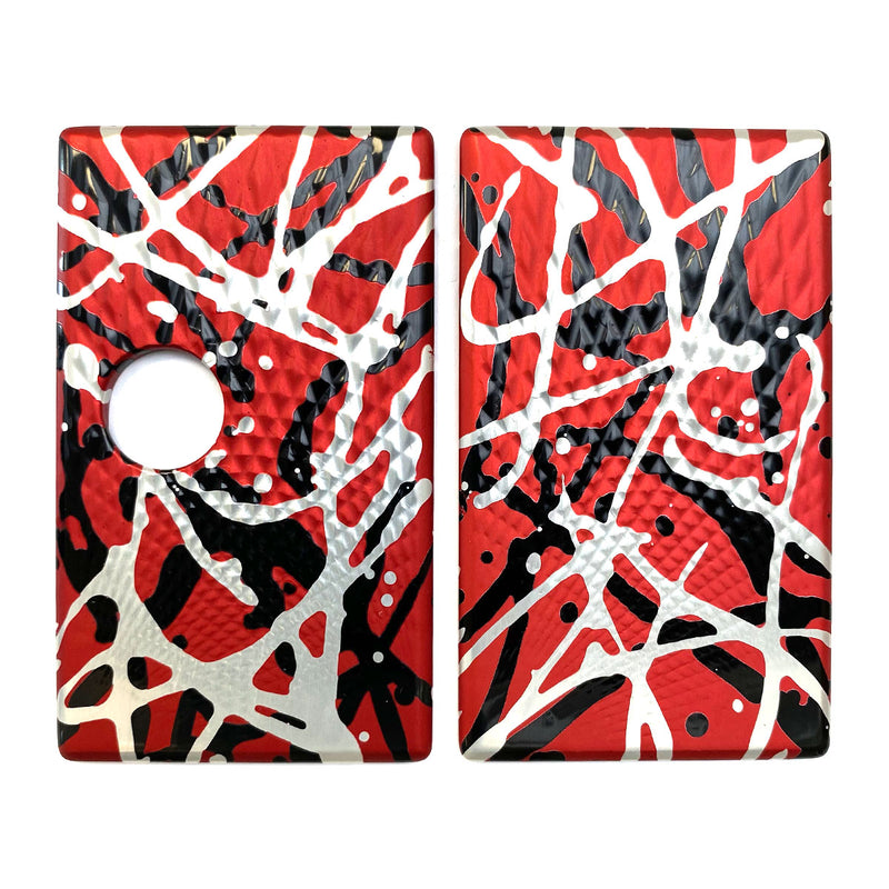 Billet Box Aluminium Panels - Fading Diamonds - Red Splatter