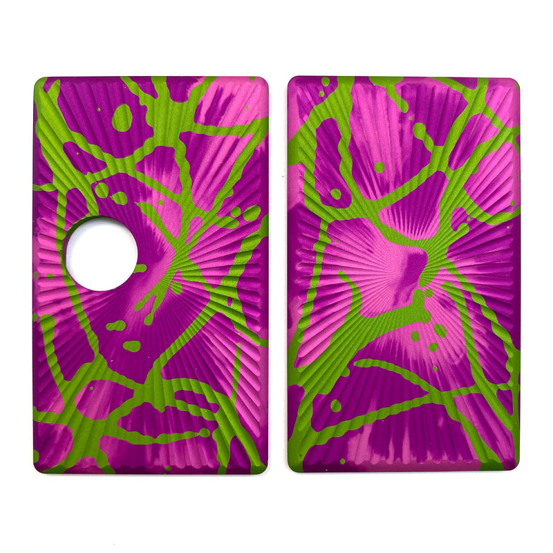 Billet Box Aluminium Panels - Star Burst - Pink Acid Wash/Lime Splatter