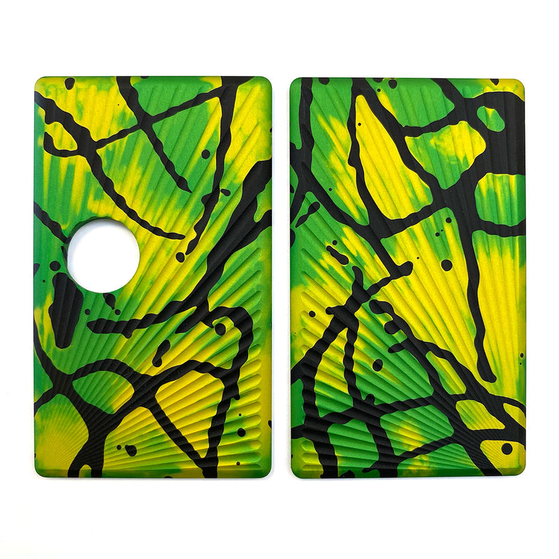 Billet Box Aluminium Panels - Sun Rays - Green Acid Wash/Black Splatter