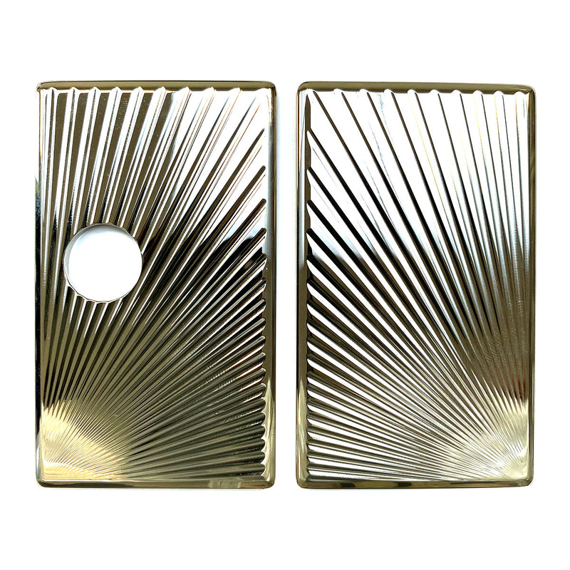 Billet Box Aluminium Panels - Sun Rays - Nickel Plated