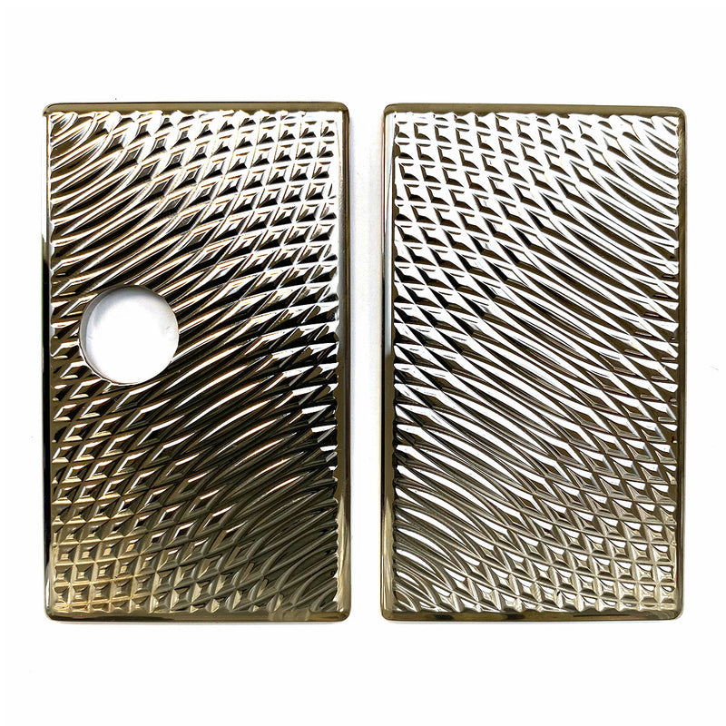 Billet Box Aluminium Panels - Snake Skin - Nickel Plated