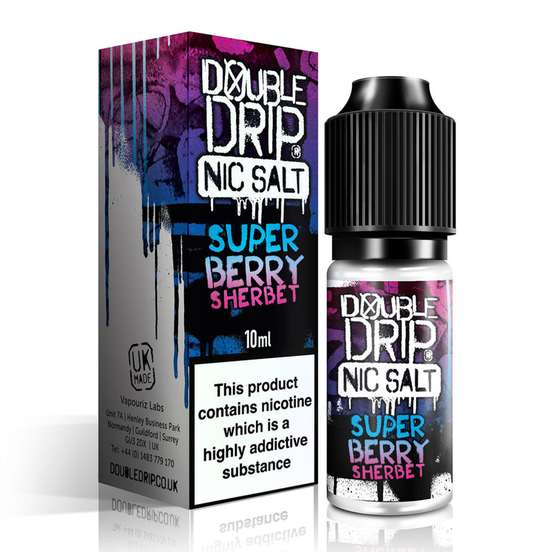 Super Berry Sherbet 10ml Nicotine Salt by Double Drip