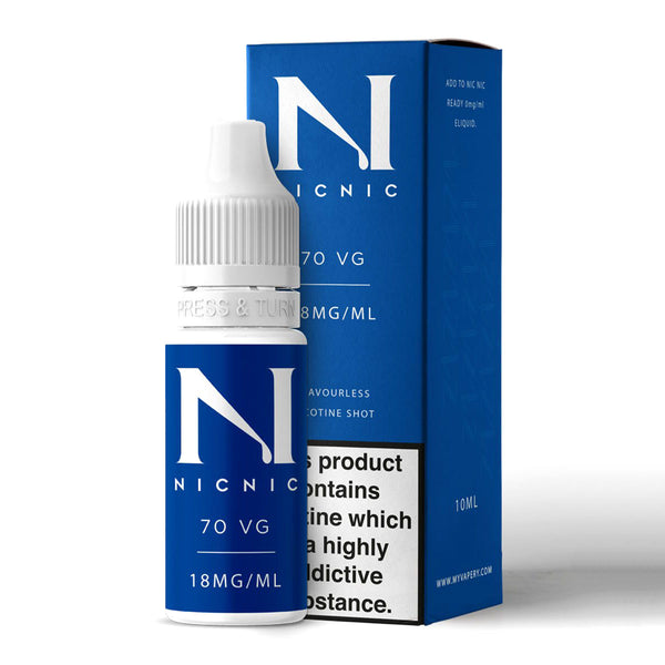70% VG Nicotine Shot 10ml by Nic Nic