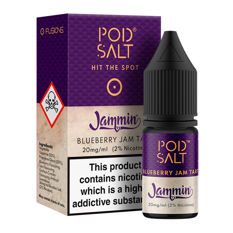 Blueberry Jam Tart - Jammin 10ml Nicotine Salt by Pod Salt Fusions