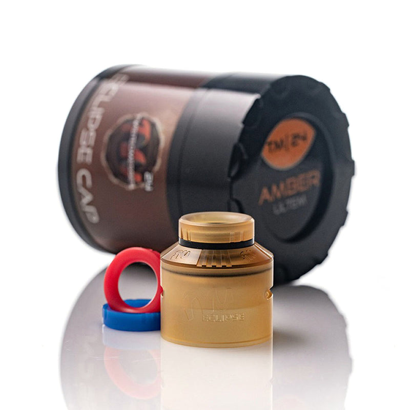 Eclipse Cap Ultem Amber for TM24 & TM24 Pro RDA by Twisted Messes