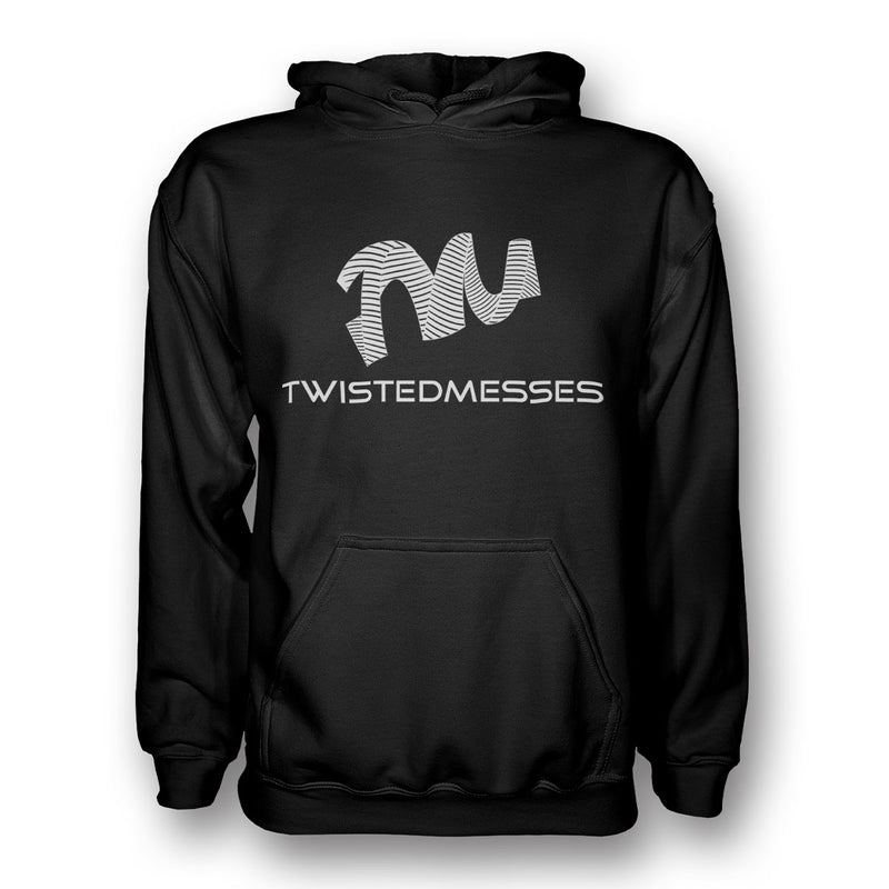 Hoodie Black/White by Twisted Messes