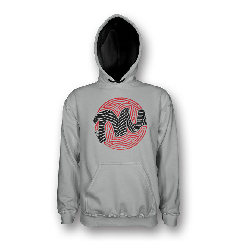 Hoodie Grey/Red by Twisted Messes