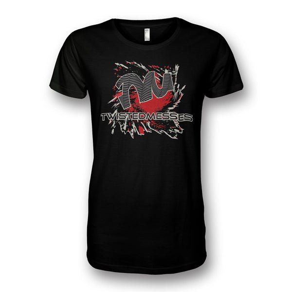 T-Shirt Black/Red by Twisted Messes